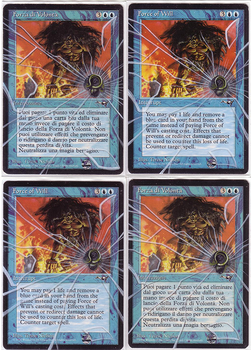 Force of will (bullet and glass) - altered mtg by eddy-pochy