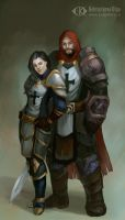 Kate and Randal  (Commission) by IcedWingsArt
