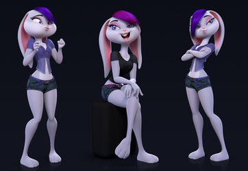 Bunny 3D model by stroggtank