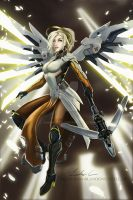 Mercy Fan Art by Jhanquaza