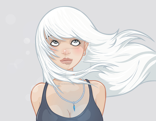 White hair by vincenthachen