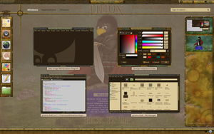 Gnome Shell Old Steampunk by samriggs