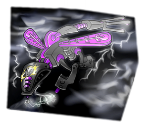 Electro with lightning by Vrahno