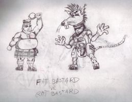 fat bastard vs rat bastard by megamike75