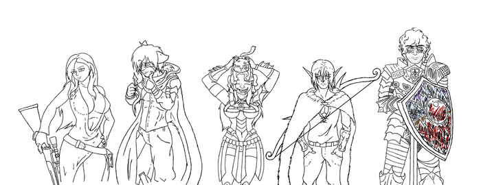 DND LineUp WIP by crazymew