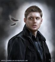 Dean and feathers by AmberJoe