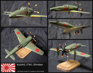 Kyushu J7W1 Shinden Model Kit by shadowvfx