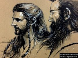 Thorin and Dwalin by evankart