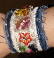 Fabric Jewelry Cuff by mintdawn