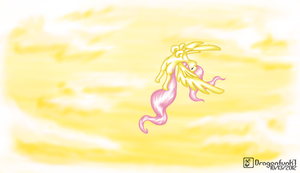 Fluttershy in the sky by Dragonfunk7