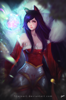 Ahri from League of Legends by FitaroArt