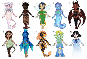 Mythical Adopts [5/10] OPEN by juli-bee