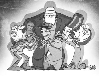 Abbot and Costello meet some other monsters by JayFosgitt