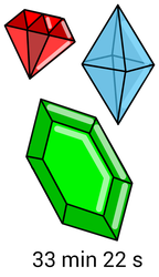 Daily drawing challenge 2 - Gemstones by kRx1203