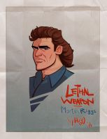 Lethal Weapon - Martin Riggs Cartoon Poster by HugoTendaz