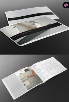 Elegant A4 Landscape Book + Brochure Template by isoarts2