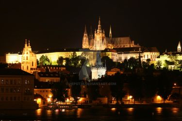 prague at night by nepst3r