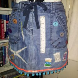 Pinny from upcycled jeans by Clobber-Creations
