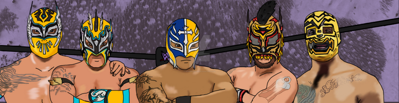 Fanart for my favorite luchadors by Gehirnzellum
