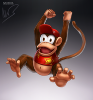 Diddy Kong by hybridmink