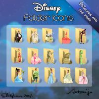 Disney Folder Icons - Princess and the frog by EditQeens