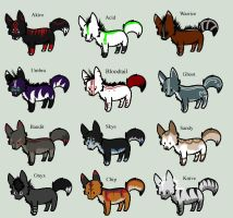 (Cheap!) Wolf Adopts 7 by Fells-Adopts