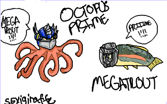 Octopus Prime and Mega trout by sExiGirAffE