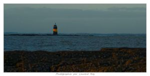 Lighthouse in the evening by laurentroy