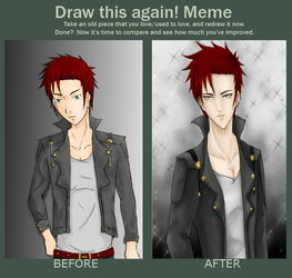 Throwback Thursday - Draw this again meme by Escoatic