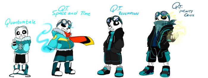 Quantumtale: TimeKid Sans Outfit Timeline by perfectshadow06