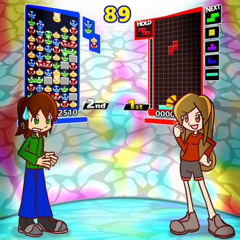 Popping Puyo's Toppling Tetrominoes by Bmaster4114