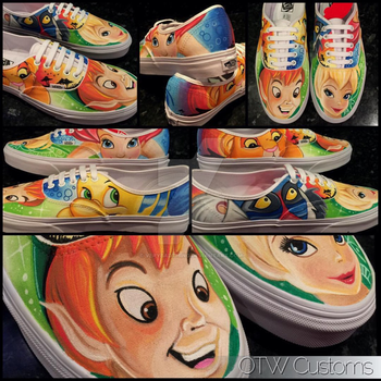 Disney character collection custom Vans  by VeryBadThing