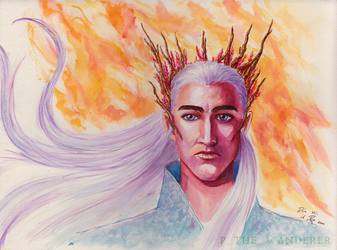 Thranduil watercolor by P-the-wanderer