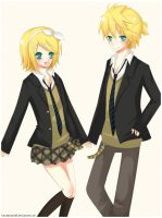 Vocaloid: Len and Rin by KawaiiPandah