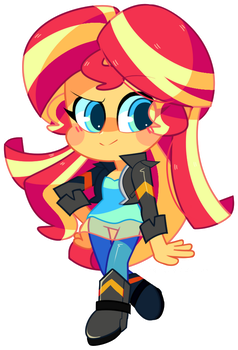 Mini Sunset Shimmer + SPEEDPAINT by Riouku