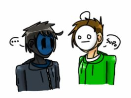 Eyeless Jack and Cry by goodlucklight