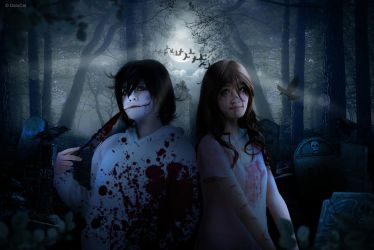 Cosplay - Creepypasta Jeff The Killer with Sally by DeluCat