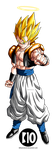 Super Gogeta DBZ Dokkan Battle Render by BillyZar
