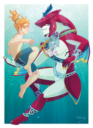 Swimming with the Sharks by hollarity