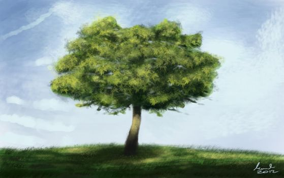 tree speedpainting by spider071