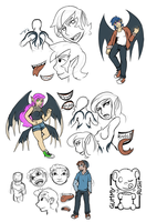 Character Sheets .:Sketch:. by GummyRush