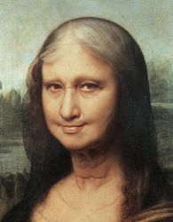 Monalisa Getting Older Detail by roweig