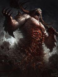 Legend of the Cryptids Demon dude ver 2 by DaveRapoza