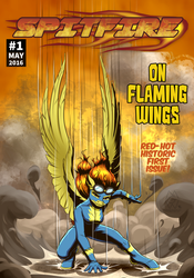Spitfire: On Flaming Wings by MykeGreywolf