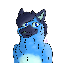whoa, you're looking blue [commission] by SkyePhilosopher