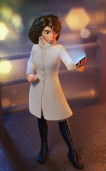 Girl with phone by sanat49