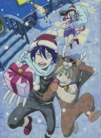 Noragami Christmas by arttoinfinity