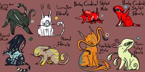 Adoptables by TheNeverEndingPit