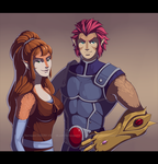 [COMM] Lion-O and Leona by VictoriaDAEDRA