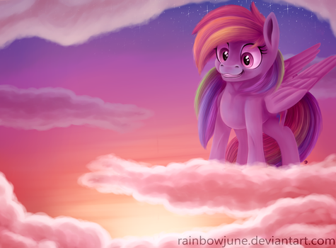 Rainbow in the Clouds by RainbowJune